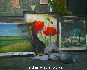 Artwork damage